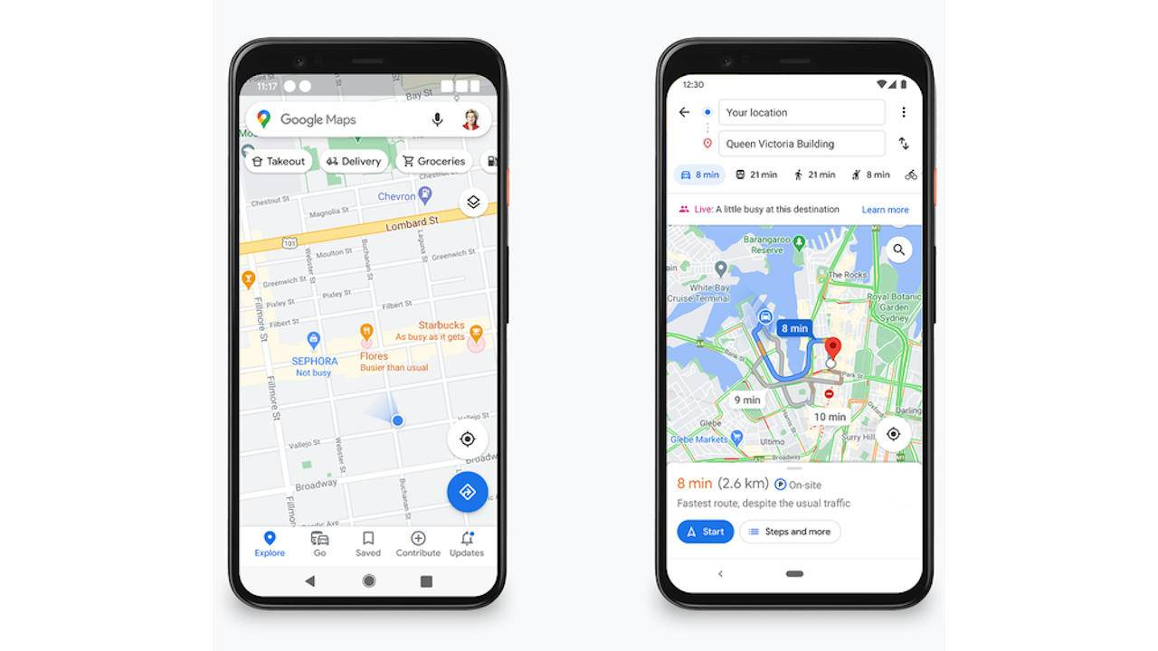 Google Maps to show business and busyness info without having to search