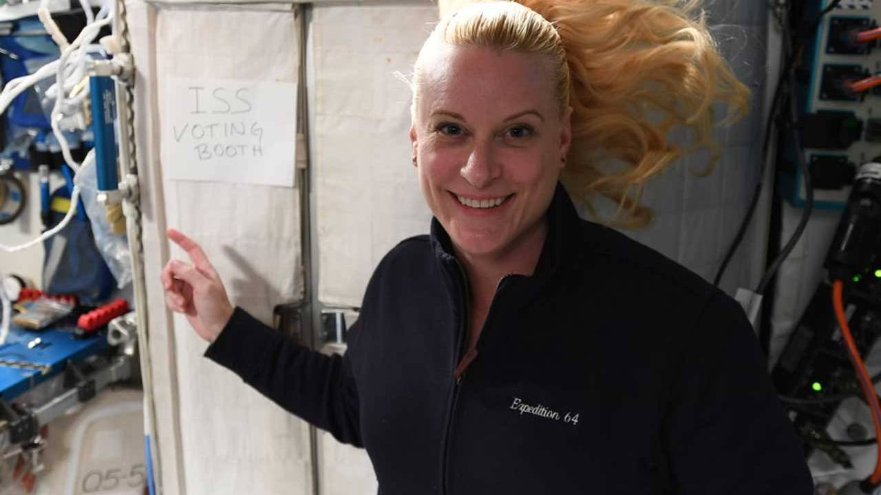 Astronaut Kate Rubins voted from the ISS