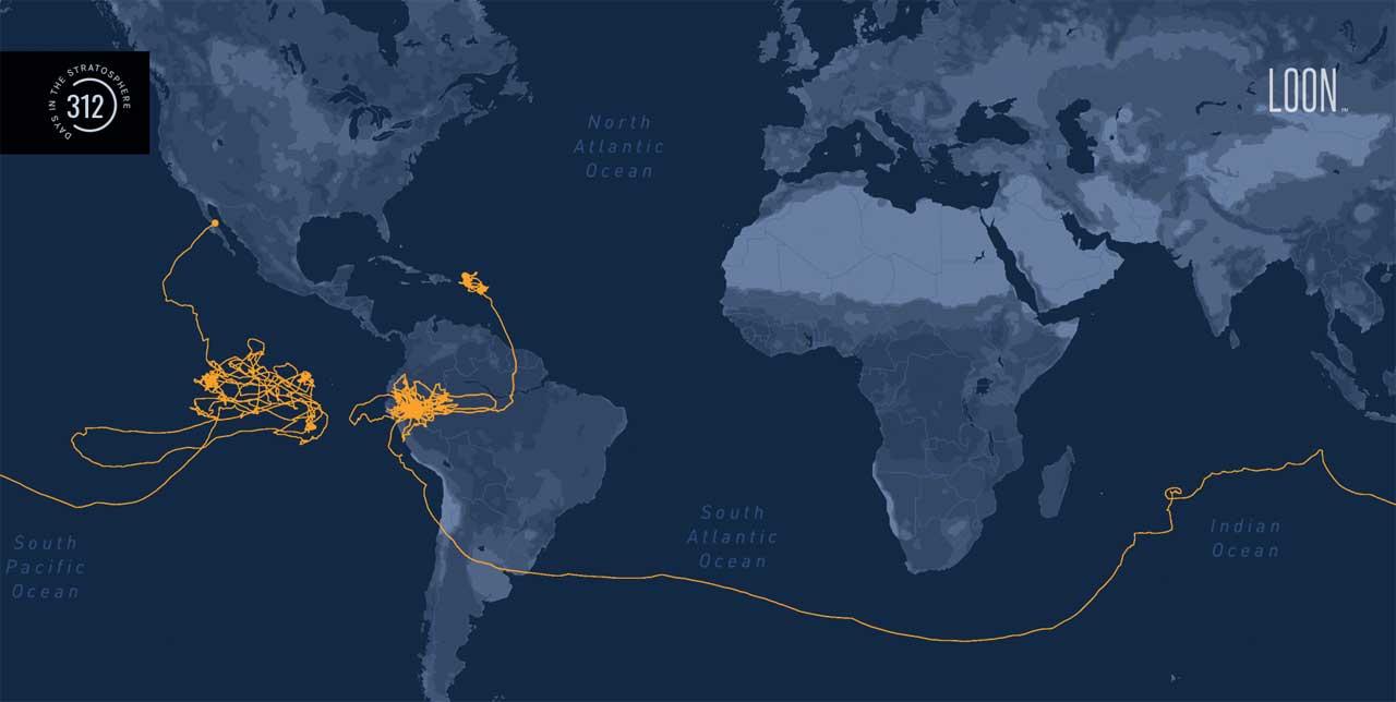 Loon's longest flight spent 312 days in the stratosphere