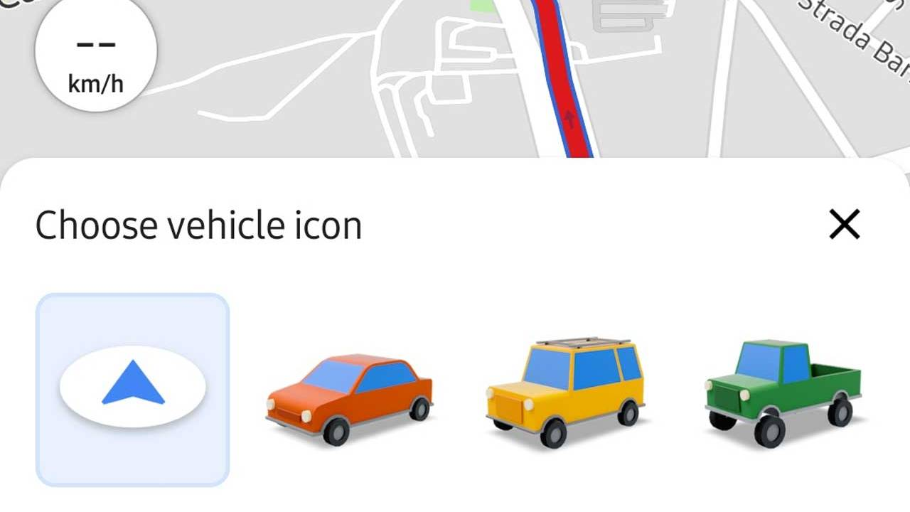 Google Maps adds new vehicle icons for Android users