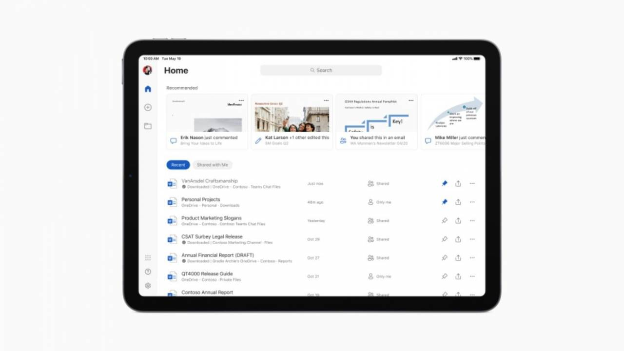 Microsoft Office apps for iPad get enhanced UI and full trackpad support