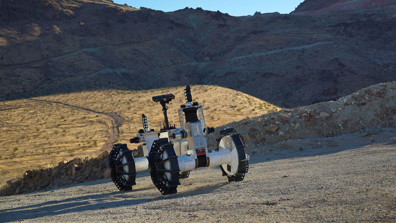 NASA DuAxel rover is two vehicles in one