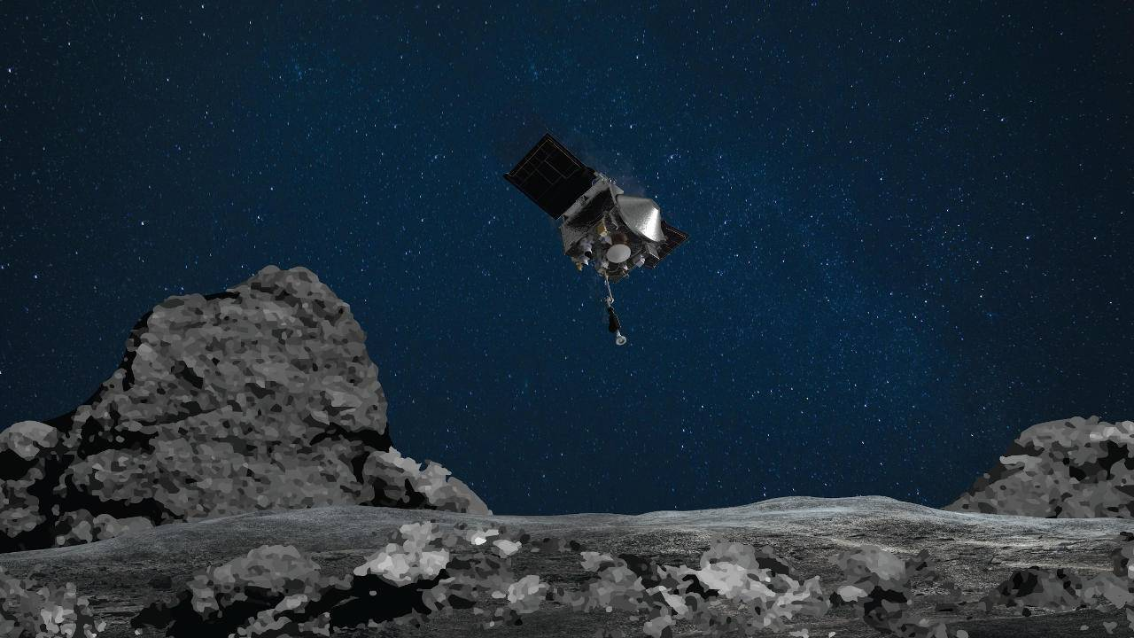 NASA OSIRIS-REx successfully collects samples from Bennu asteroid