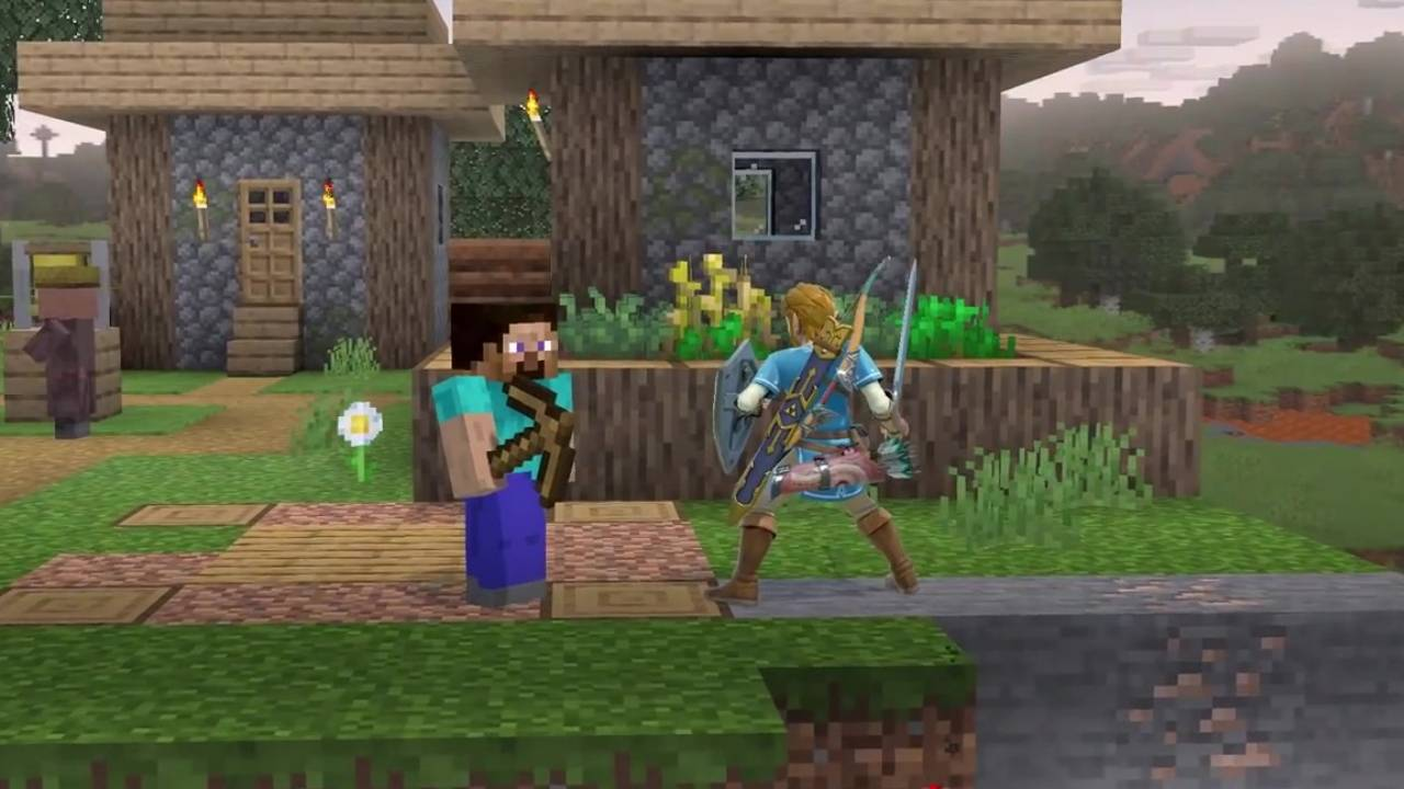 Super Smash Bros. Ultimate adds Minecraft's Steve and Alex to the bout