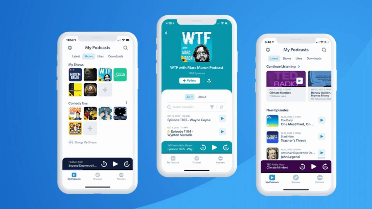 Stitcher podcast app reveals massive redesign with new features