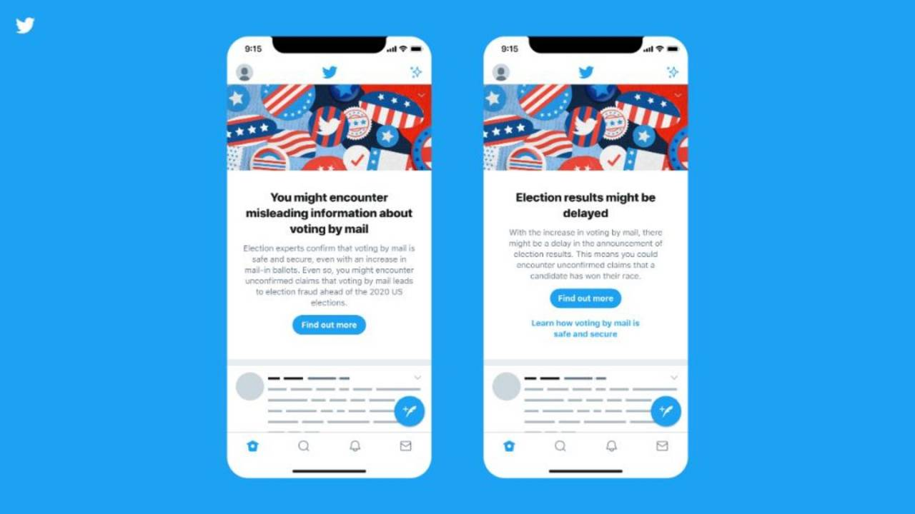 Twitter reveals the election alerts it'll use to fight misinformation