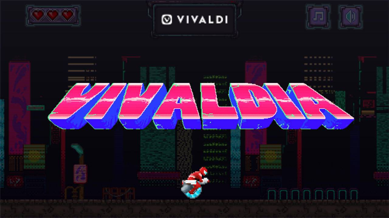 Vivaldi browser adds a game you can play even when online