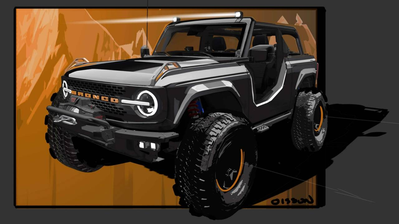 Ford turned its new Bronco into an epic Jekyll & Hyde concept truck