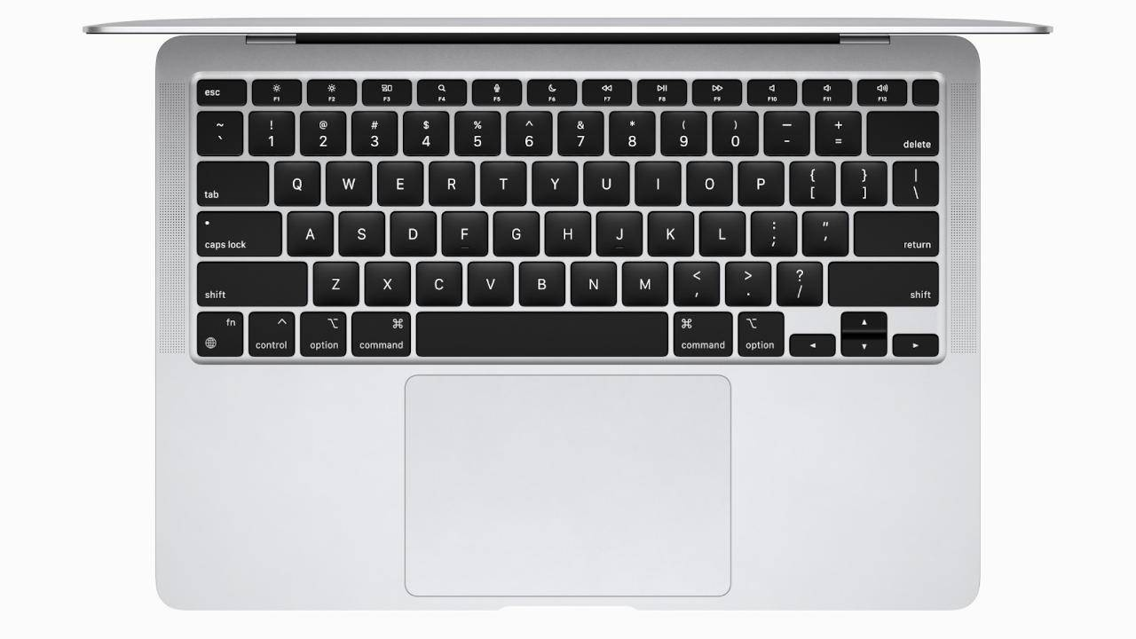 Apple M1 MacBook Air gives some functions keys new duties