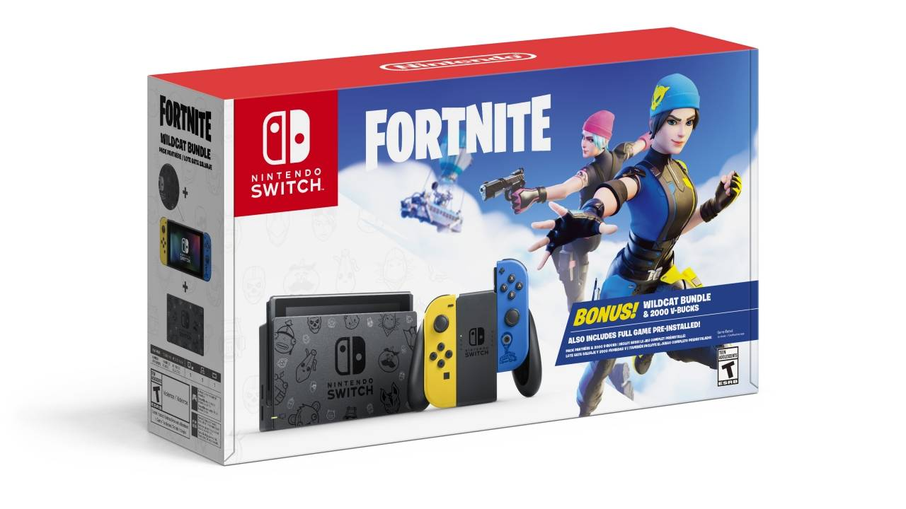 Nintendo Switch Fortnite Bundle flaunts uniquely decorated console
