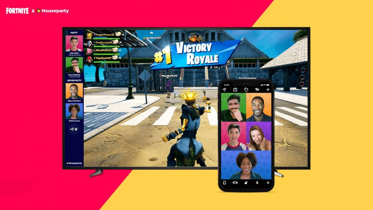 Fortnite video chat arrives on some platforms with Houseparty integration