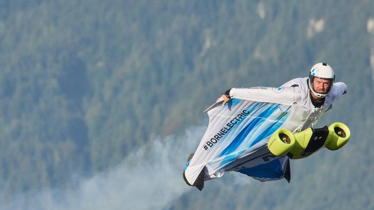 It's a bird! It's a plane! It's a BMW-powered electrified wingsuit