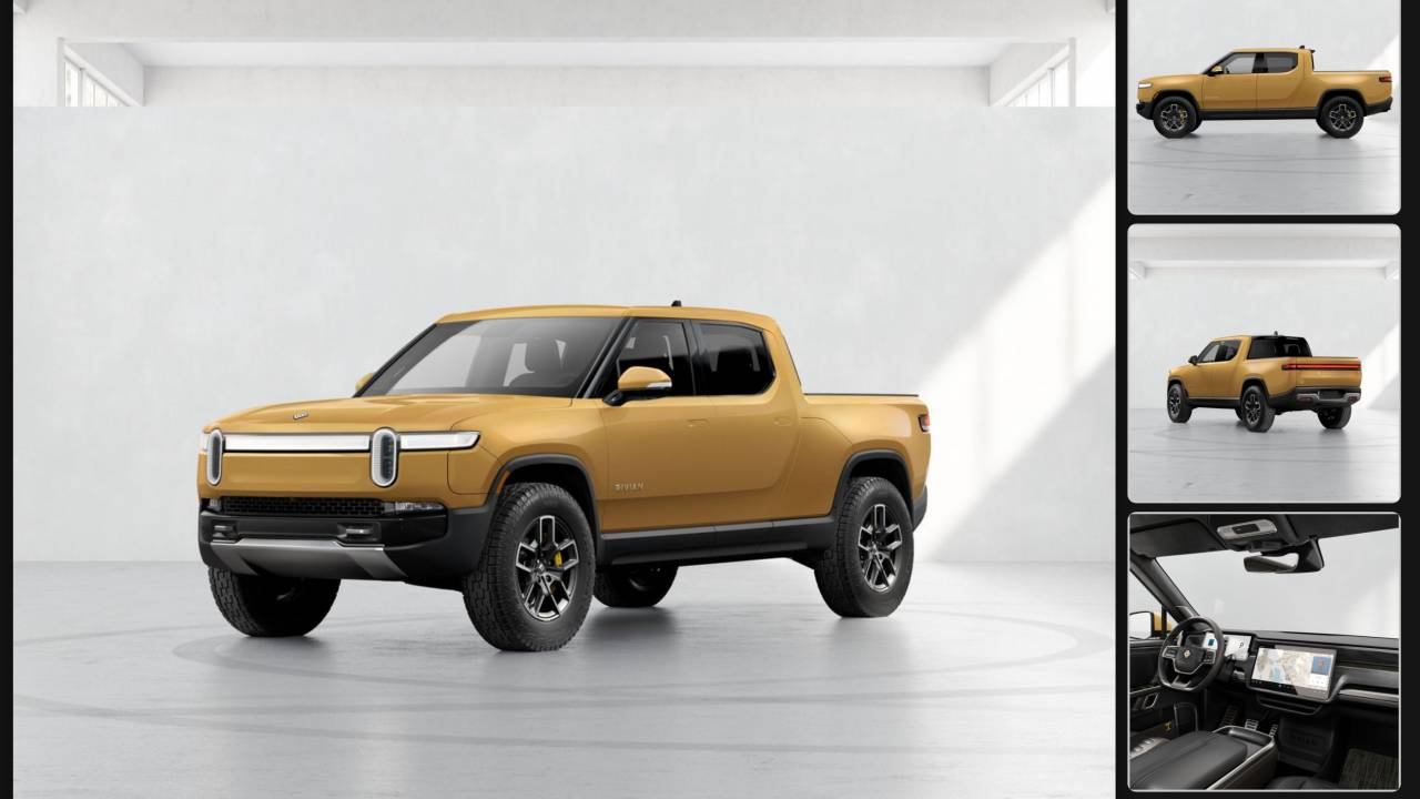 Rivian configurator details R1T and R1S – EV colors, wheels and batteries
