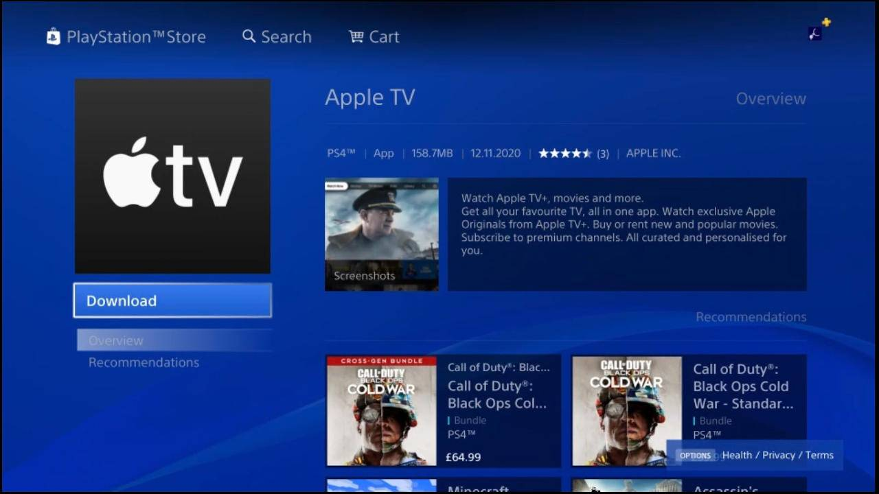 Apple TV PlayStation app now available ahead of PS5 launch