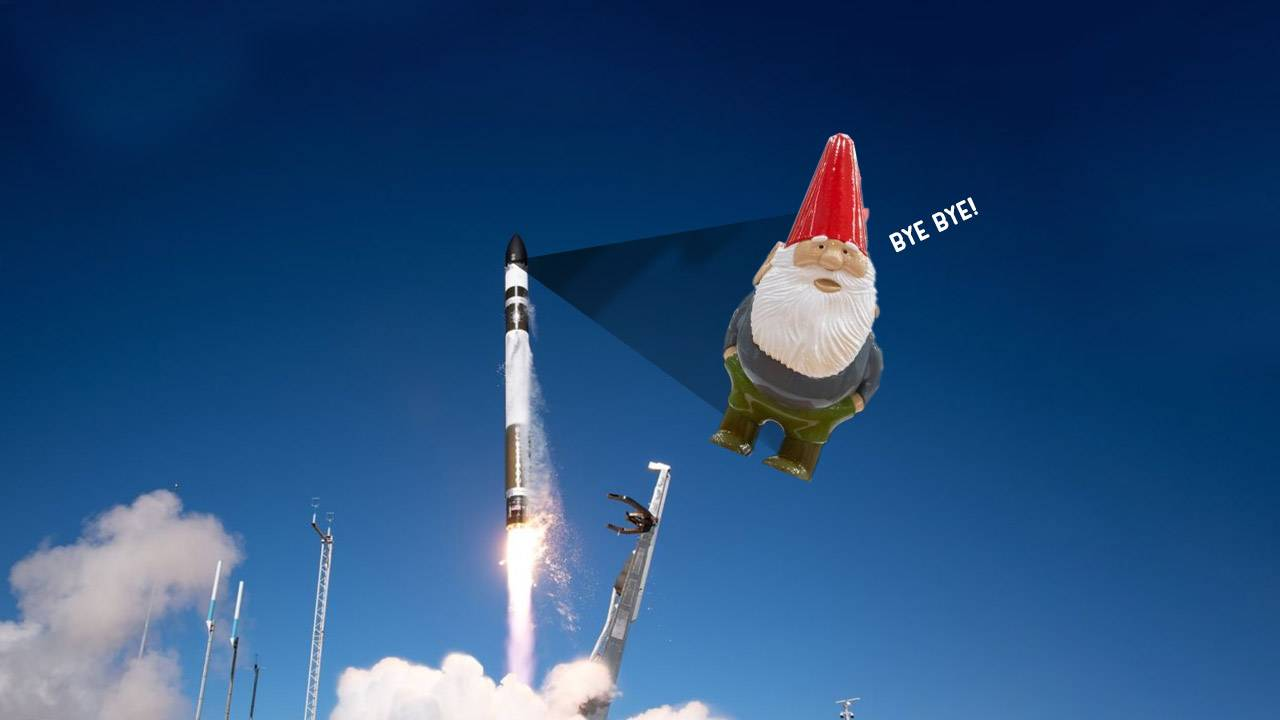 They're launching a Half-Life gnome into space