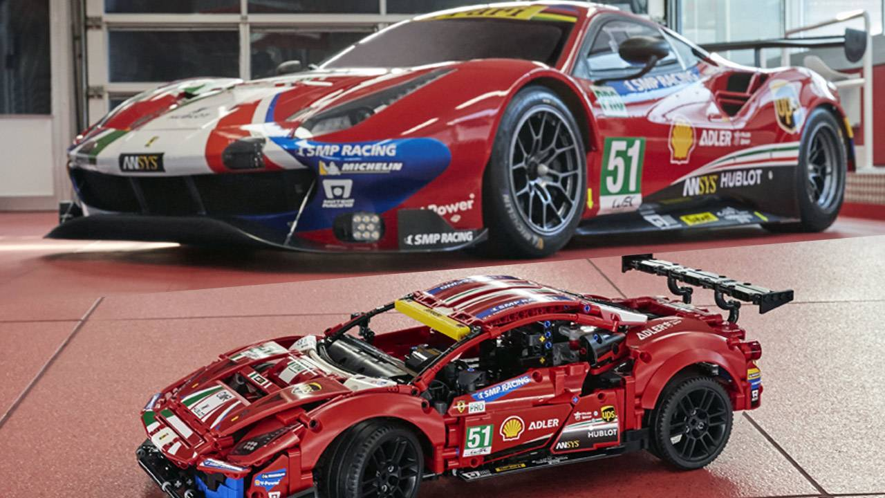 "LEGO Technic Ferrari 488 GTE ""AF Corse #51"" set revealed for 2021"