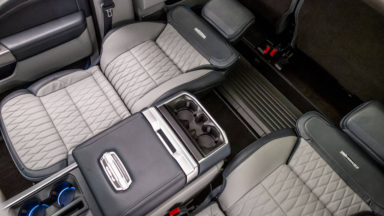 Ford shows off the patented Max Recline Seats for the new F-150