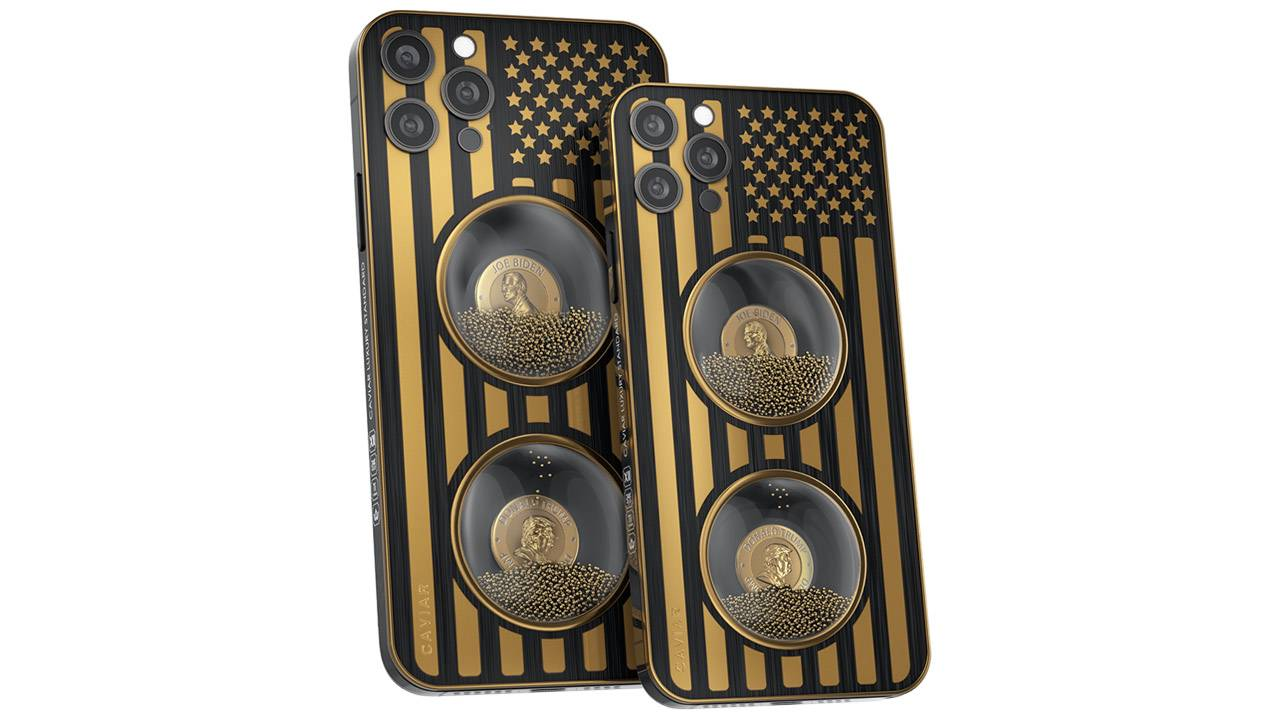 Custom $14.5k iPhone 12 edition includes gold sand hourglass