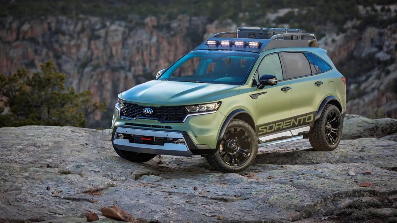 Modified Kia Sorento SUVs are ready to adventure