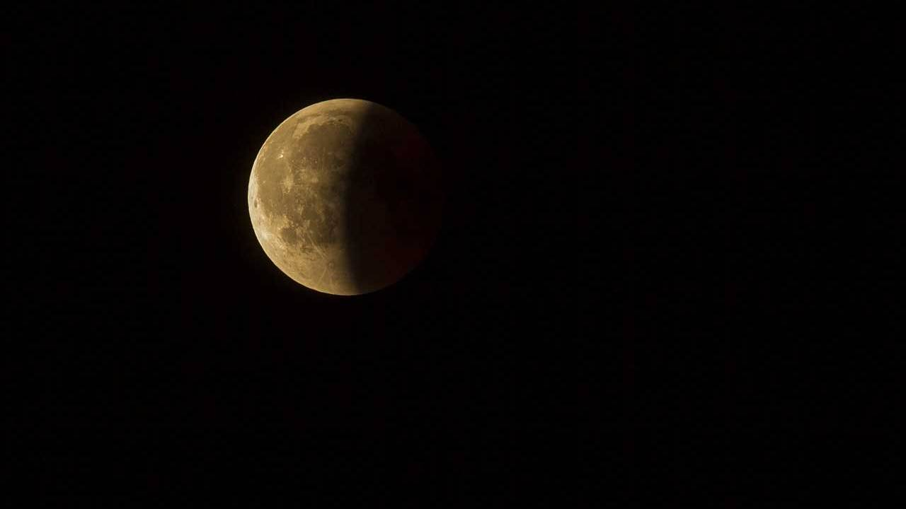 A lunar eclipse will happen late Sunday night