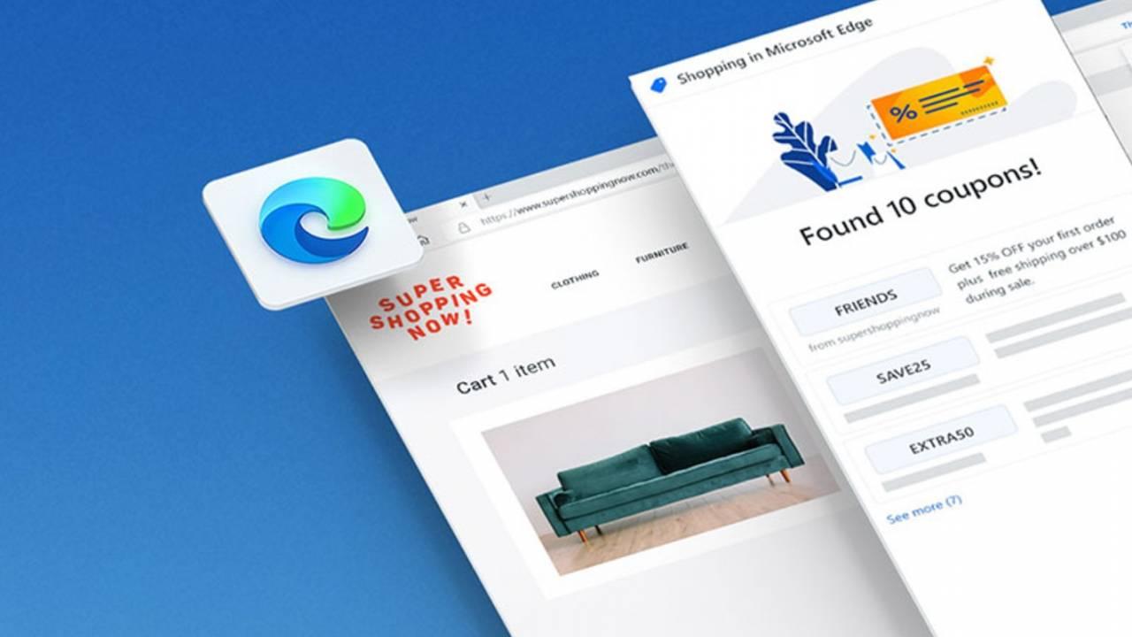 Microsoft Edge update adds a built-in digital coupon tool