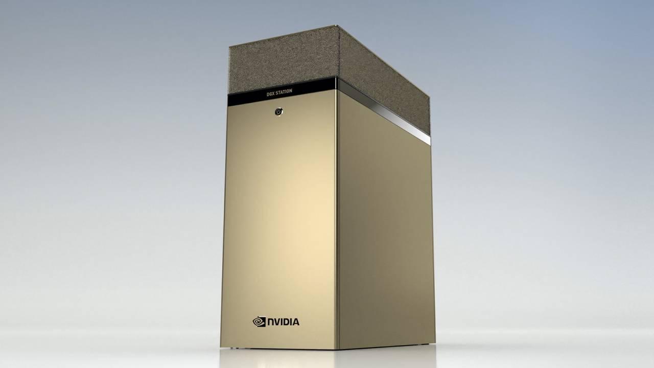 NVIDIA built an epic AI supercomputer from four new A100 80GB GPUs