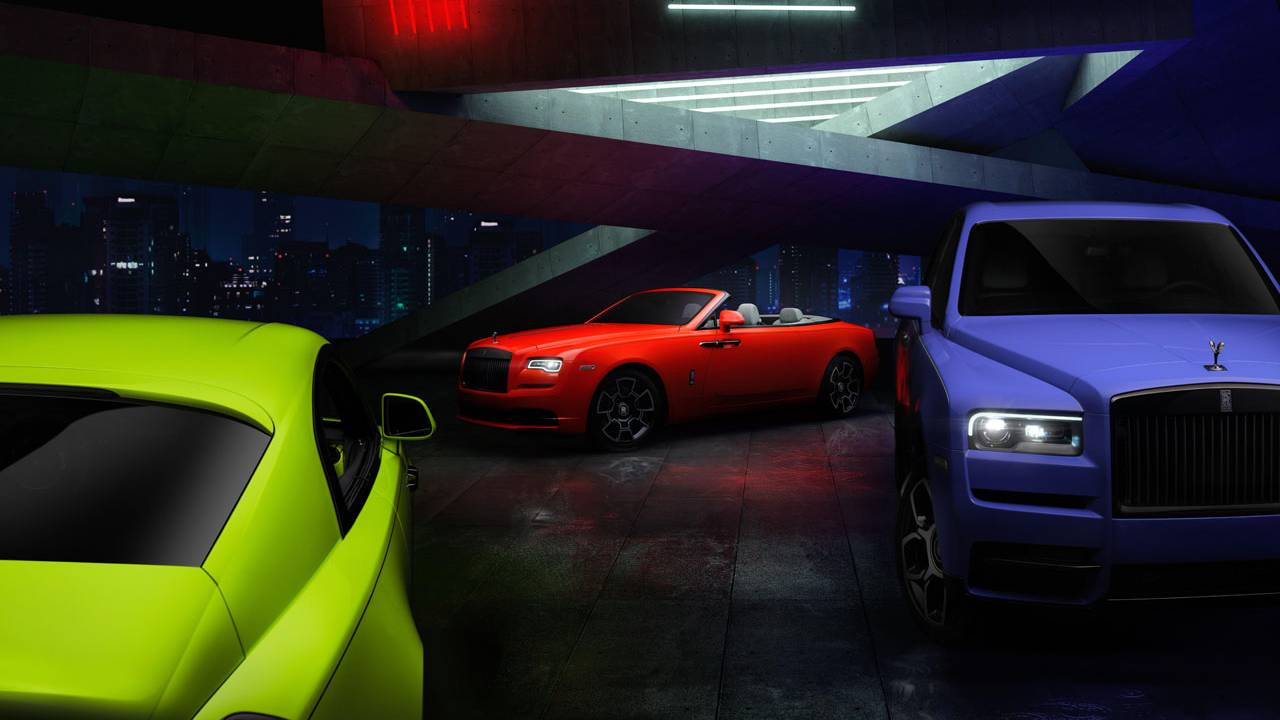 Limited-edition Neon Nights Rolls-Royce Dawn, Wraith, and Cullinan debut