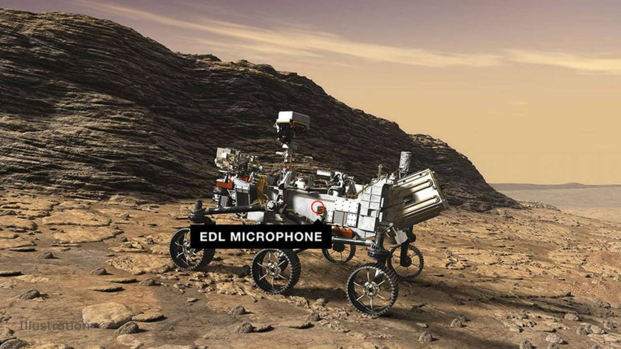 NASA's first Mars rover with microphones sends back space sounds