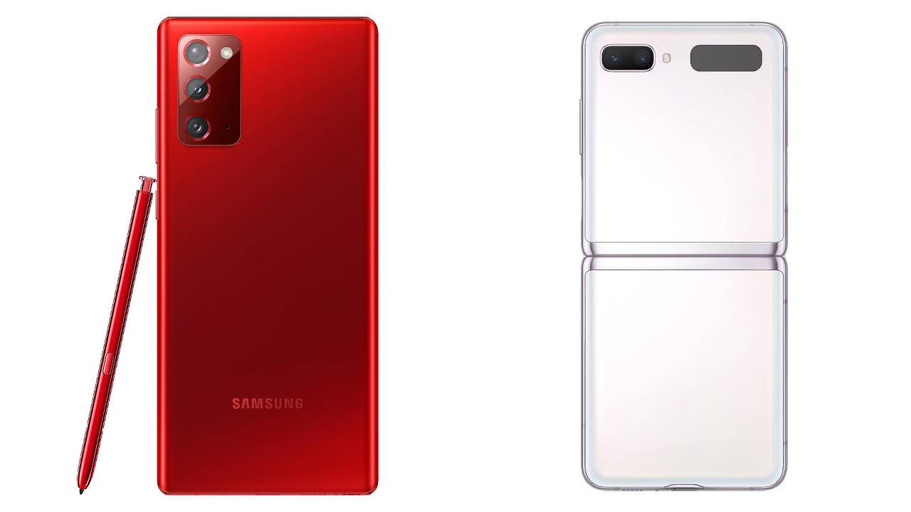 Limited Galaxy Note 20 Mystic Red, Galaxy Z Flip 5G Mystic White arrive