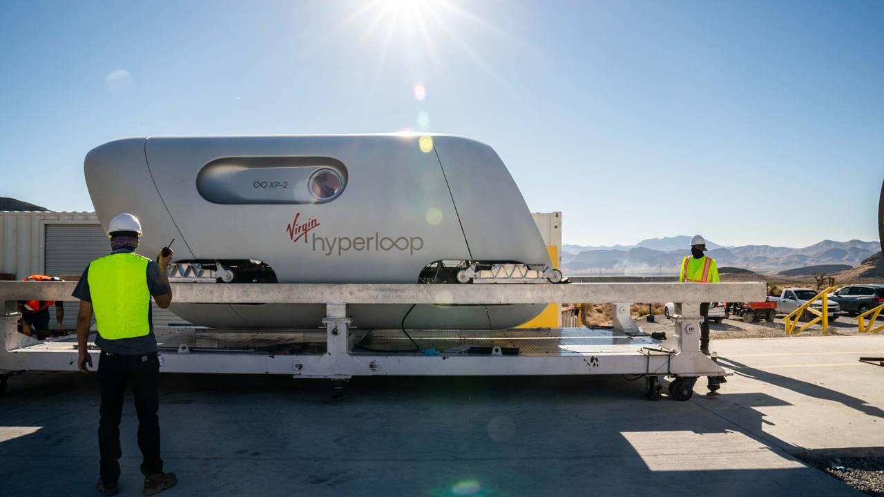 Virgin Hyperloop carried its first passengers yesterday
