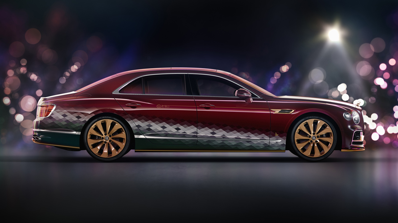You better watch out: Santa's new sleigh is a Bentley Flying Spur