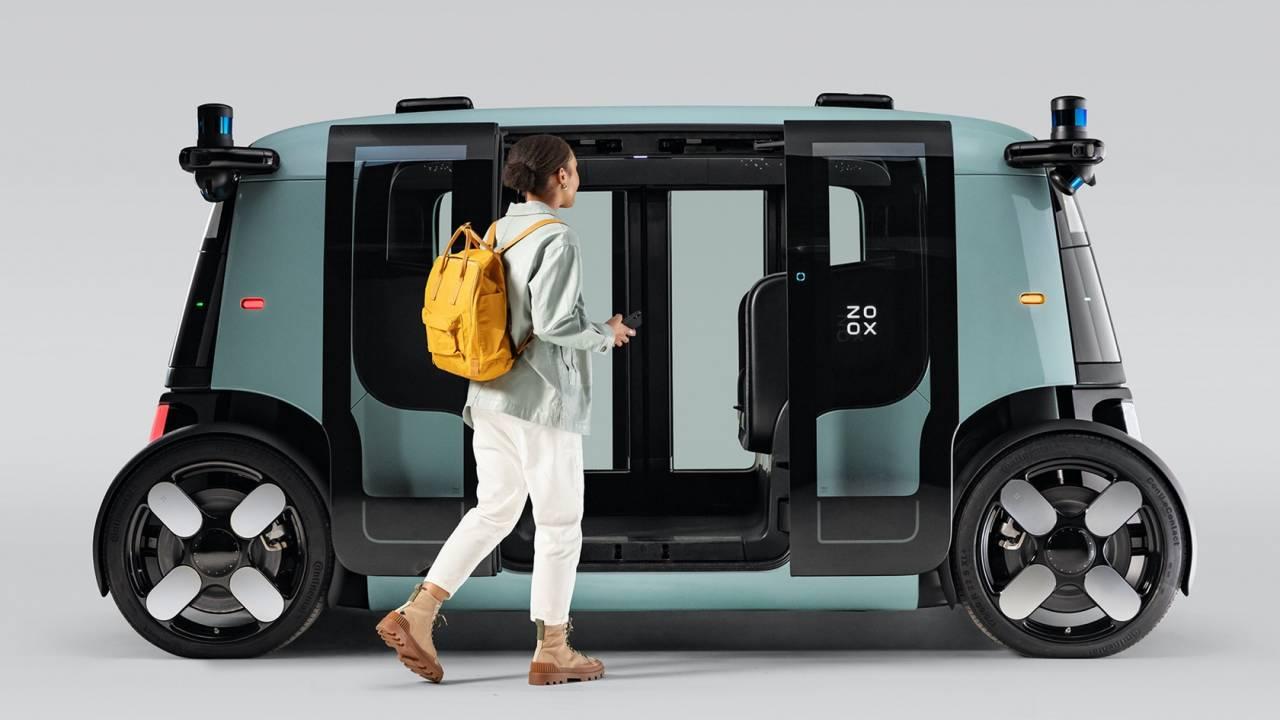 Zoox self-driving robotaxi revealed – Amazon cash builds bidirectional pod EV