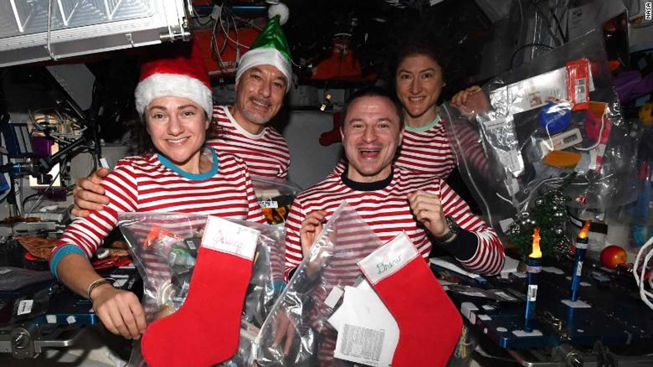 Here's how astronauts celebrated the holidays aboard the ISS