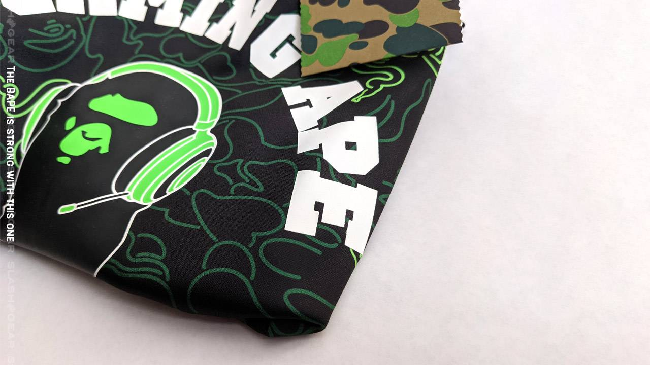 "Razer x BAPE ""A Gaming Ape"" tee, camo tee, Goliathus Speed hands-on"