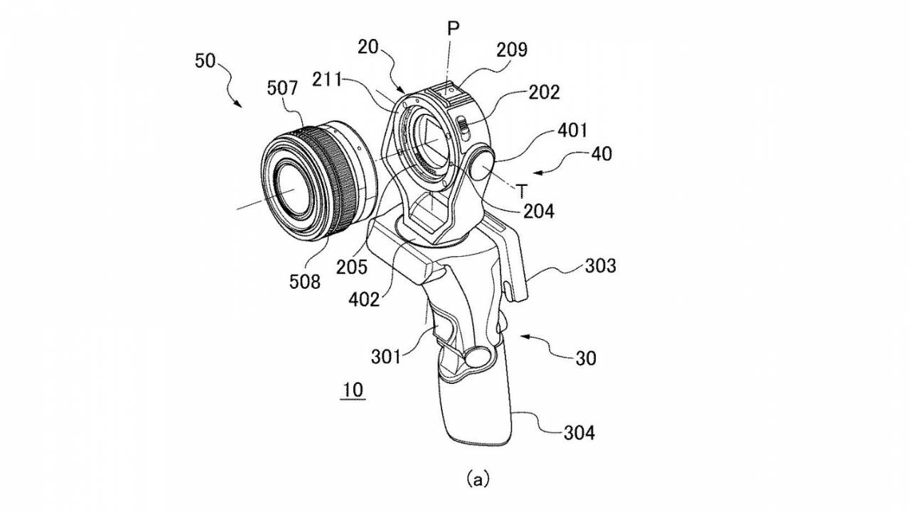 Canon patent reveals joystick-style handheld camera with swivel lens