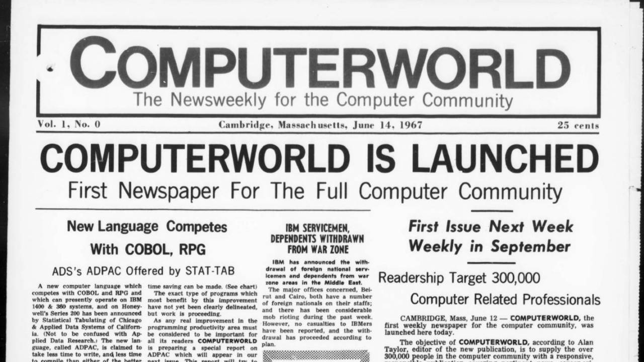 Internet Archive adds high-quality Computerworld content from microfilm