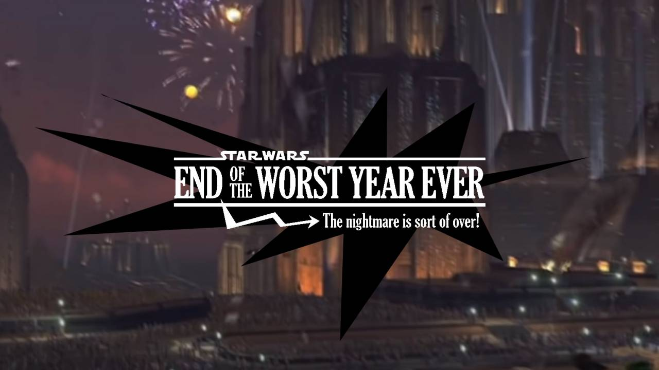 Star Wars fans celebrate new year's eve without the NYC ball drop