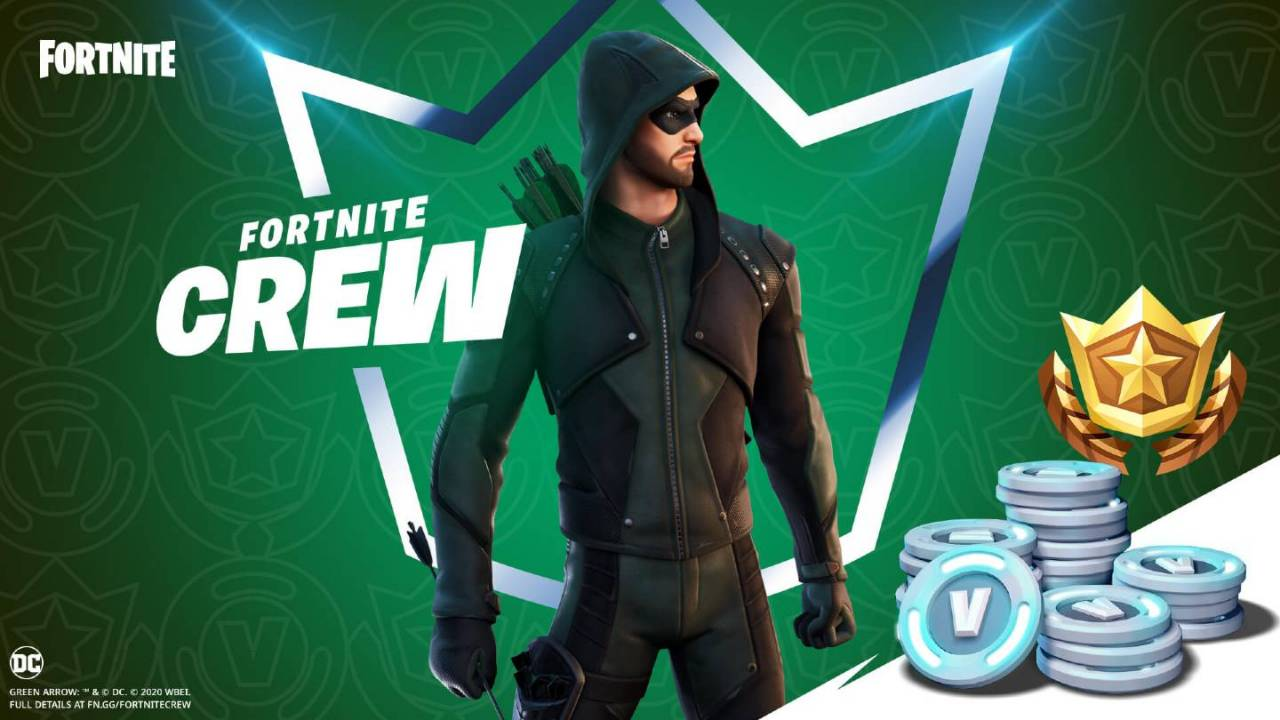 Fortnite Crew January 2021 exclusive will include Green Arrow skin