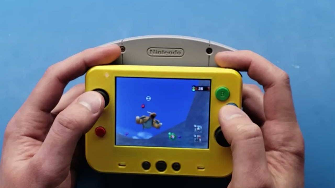 Cool portable Nintendo N64 is about the size of a retro game cartridge
