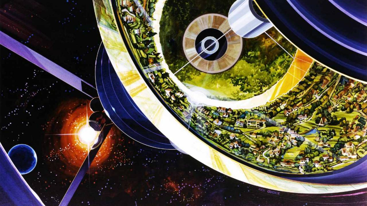 NASA's retrofuturistic artwork reveals 1970s vision of life in space