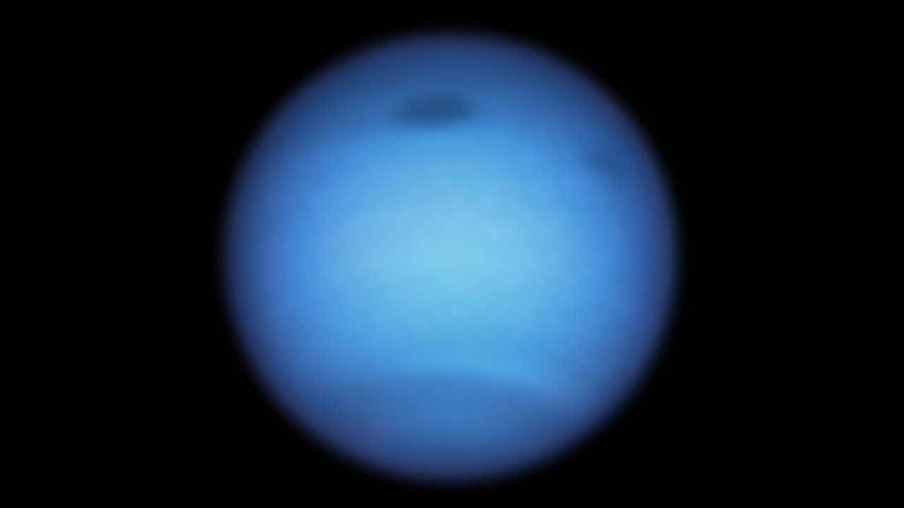 Massive Dark Storm on Neptune appears to have shed a fragment and changed direction