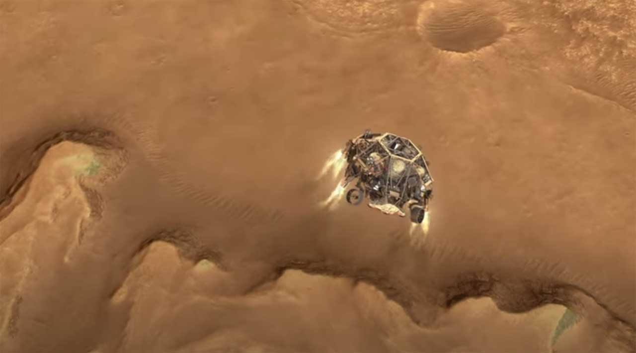 NASA animation shows key landing events for the Perseverance rover