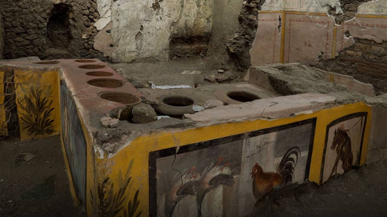 Ancient Pompeii street food shop unearthed in a recent excavation