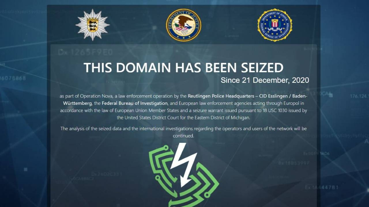 FBI and Europol seize VPN accused of supporting 'criminal underworld'