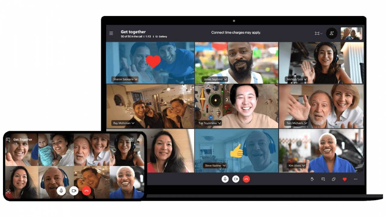 Skype gets Together Mode from Teams to create virtual get-togethers