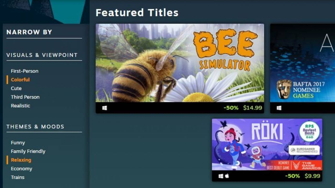 Steam's new faceted browsing makes it easier to find discounted games