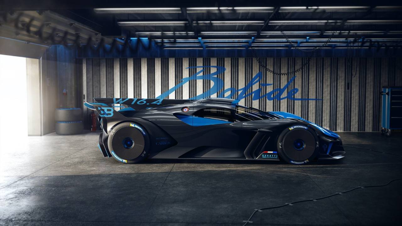 Bugatti Bolide is a technological masterpiece of lightweight 3D-printed components