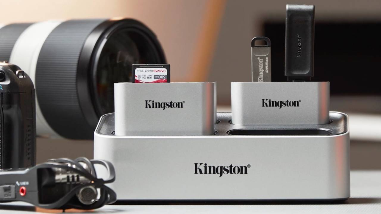 Kingston Workflow Station is a modular dock for serious content creators