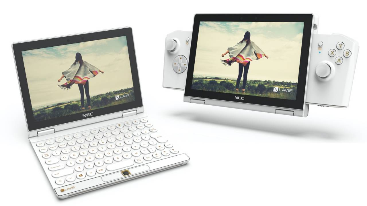 NEC LAVIE MINI is an 8-inch gaming laptop with a Switch-style controller