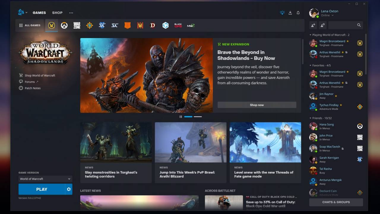 Blizzard Battle.net gets a much-needed redesign